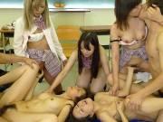 Satsuki Kirioka and Azusa Misaki in groupsex